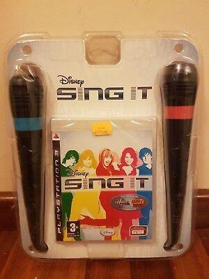PS2 PLAYSTATION 2 DISNEY SING IT + 2 MICROS karaoke NUEVO Y...