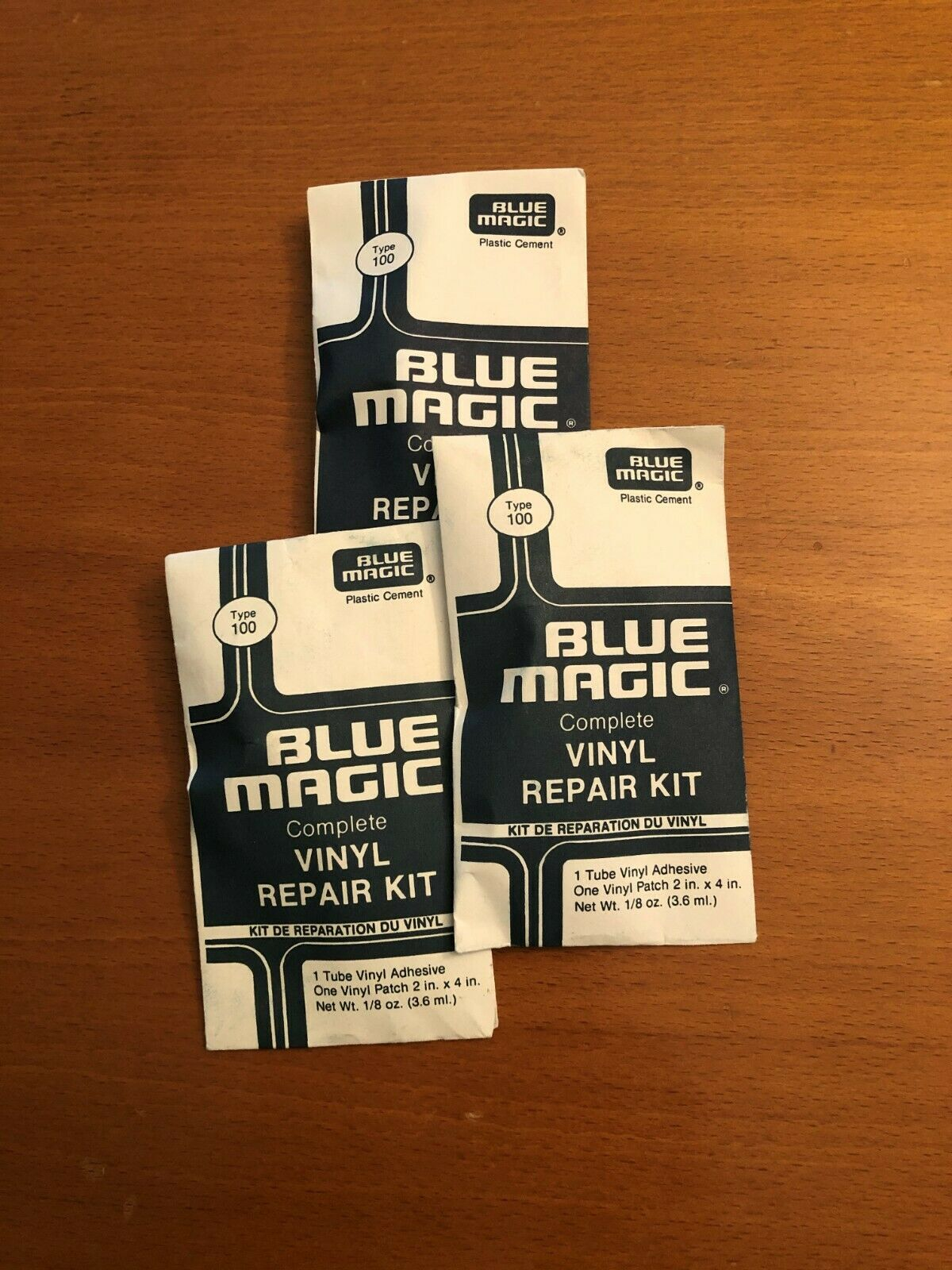 5 Blue Magic WATERBED PATCH KITS-Vinyl Mattress Repair FREE