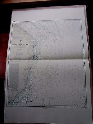 """1972 CROMER to HARWICH Norfolk Suffolk Coast - SEA MAP Chart 28"""" x 41"""" A41"""
