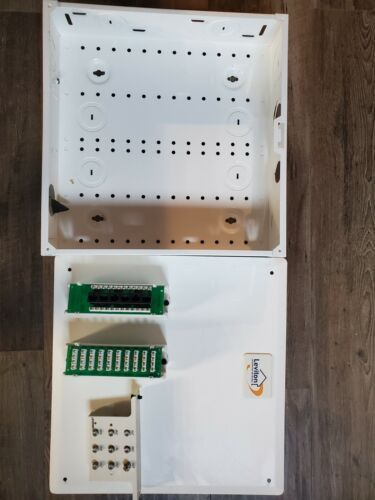 Leviton Structed Media Cable box - ethernet/phone patch panels
