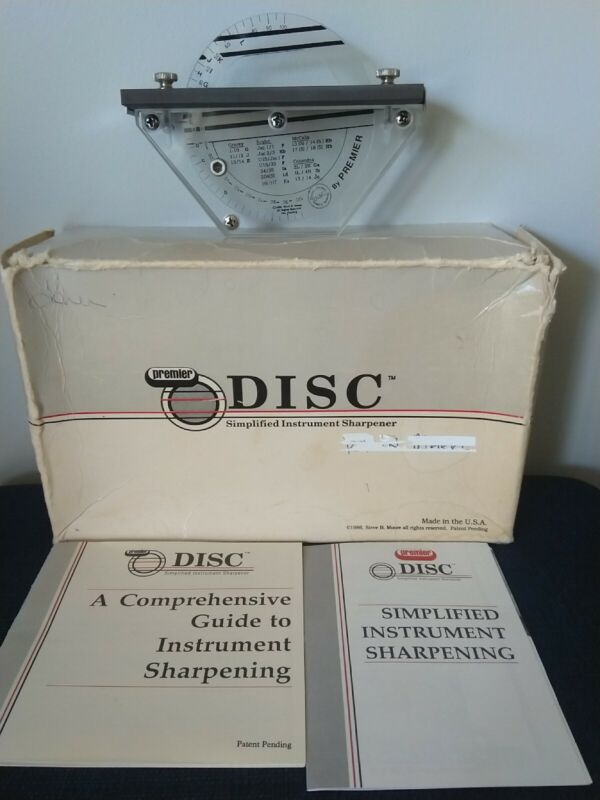 1986 Premier Dental Products Disc Simplified Instrument Sharpening Tool Curettes
