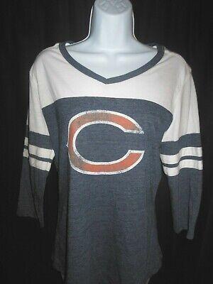 Chicago Bears Women's NFL Fanatics Stone Wash Design Shirt Chicago Bears Stone