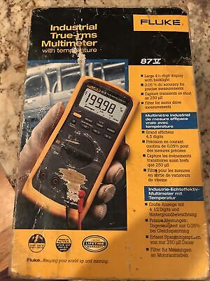 Fluke 87-v Industrial True Rms Digital Multimeter With Temperature