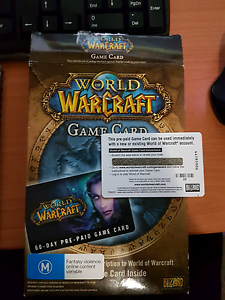 World of Warcraft 60 Day Prepaid Game Card Plympton Park Marion Area Preview