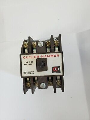 Cutler-hammer Type M Relay D26mpl 120 V 60 Hz Coil 4 Contacts