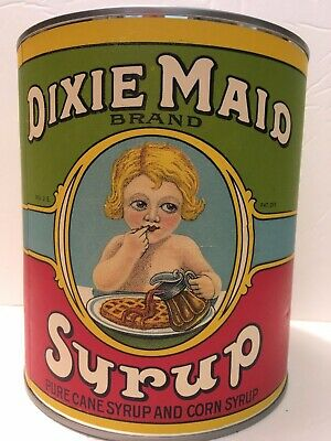 Dixie Maid Pure Cane Syrup and Corn Syrup #10 Tin, used for sale  Lexington
