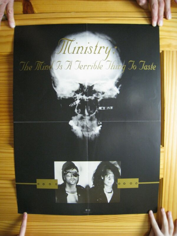 Ministry Poster The Mind Is A Terrible Thing To Taste