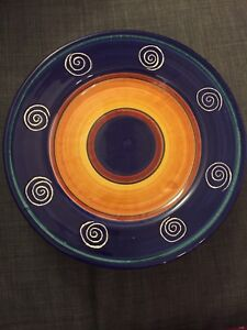 Large Hand-Painted Plates