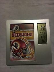 Washington Redskins NEW Digital Thermometer Calendar Desk Clock . NFL Football
