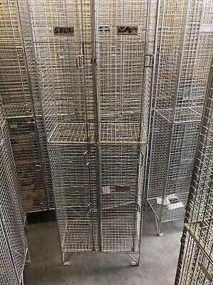 Metal Mesh Storage Locker Display Industrial