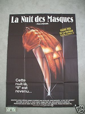 HALLOWEEN ORIGINAL MOVIE POSTER FRENCH GRANDE 47x63 BiG! MICHAEL MYERS MASK 1978](1978 Halloween Movie Mask)