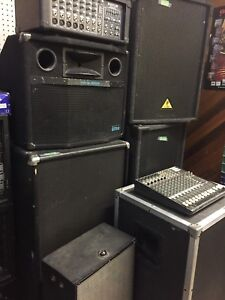 Used PA Speakers & Mixing boards