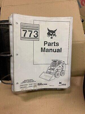 Original Bobcat 773 Series Parts Manual Catalog Each Page In Protective Sheet