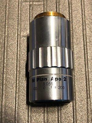 Mitutoyo M Plan Apo 2 X 0.055 0 F200 Objective Lens