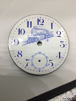 Beautiful New York Standard Porcelain Dial With Train 18 Size