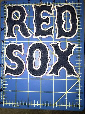 Boston Red Sox Letter Patches Logo Name Major League Baseball MLB Jersey Uniform Boston Red Sox Uniform