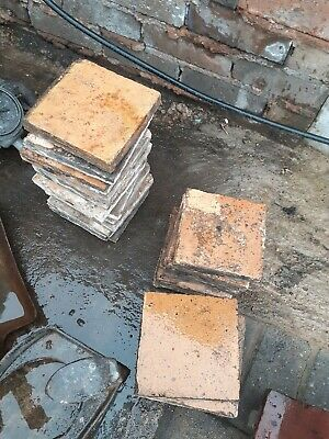 "Reclaimed Victorian Yellow/ Buff Quarry Tiles 6"" x 6"" x 1"" (approx) x26"