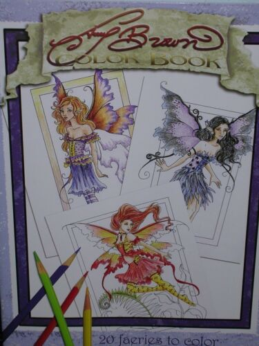 Amy Brown - Color Book 1 - SIGNED - Plus Bonus Print