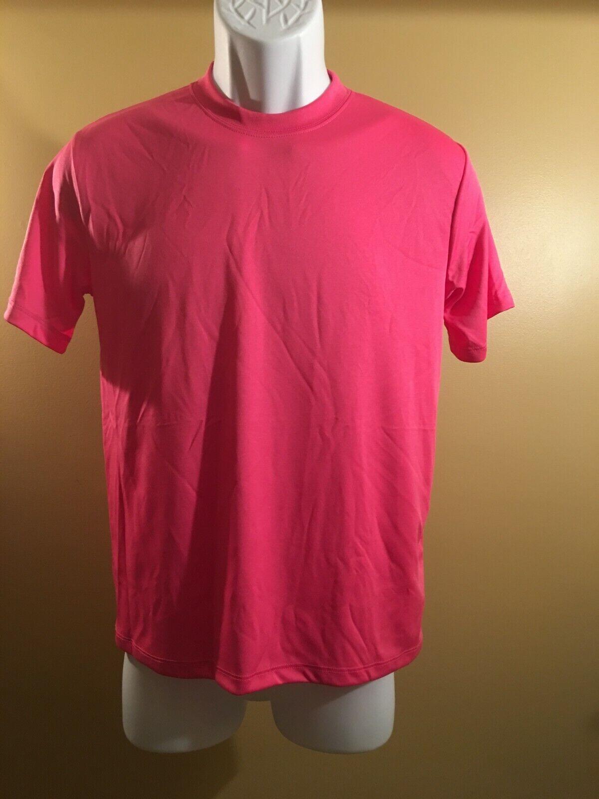 760bfaf0 Hanes Boys Cool DRI T-Shirt Wow Pink Large