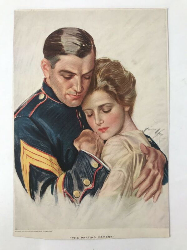 "1918 Rare Picture "" The Parting Moment"" International Magazine Cosmopolitan"