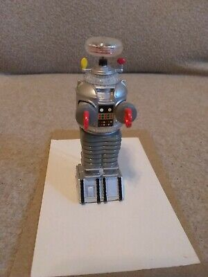 """Vintage 1997 Lost in Space 3.5"""" B-9 ROBOT Talking Keychain Basic Fun Loose Toy"""