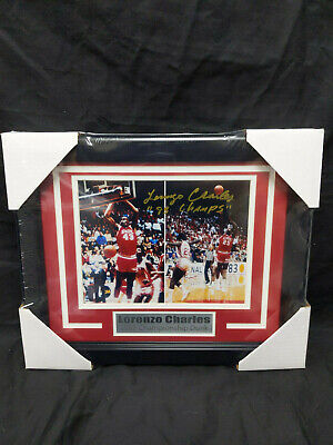 LORENZO CHARLES NC STATE WOLFPACK 83 CHAMPS Signed NC State 8x10 Photo FRAMED