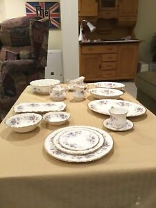 China 12 pc setting with serving dishes