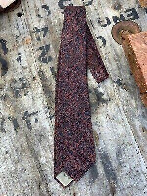 1940s Mens Ties | Wide Ties & Painted Ties Fancy Kitagawa Utamaro Black & Orange 1940s/1950s Vintage Japanese Peekaboo Tie $85.00 AT vintagedancer.com