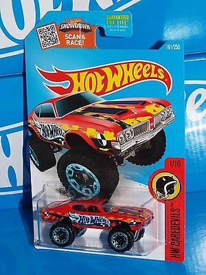 Hot Wheels Diecast 2016 HW Daredevils Series #161 Olds 442 W-30 Red 4x4