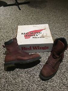 Red Wing shoes steel toe boots size 10.5 D