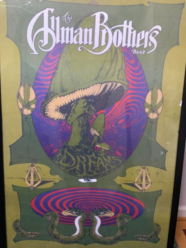 The Allman Brothers Poster Dreams Promo  Artistic Psychedelic Mushroom
