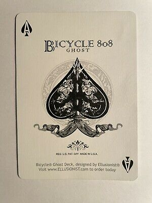 White Ghost PROMO Card! Ace Of Spades, Very Rare! UV500 Ellusionist Swap Card