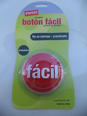 1 STAPLES ORIGINAL SPANISH EASY BUTTON fácil botón español Asi de Fácil FACIL
