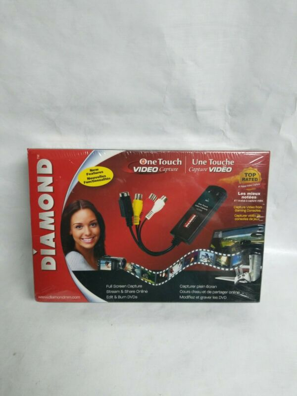 Diamond VC500 USB 2.0 One Touch Video Capture Convert Burn Device New