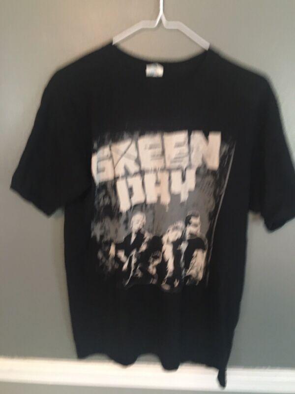 Green Day Grey Wall Band Pic World Tour 2010 Shirt US/Europe Tour Size M