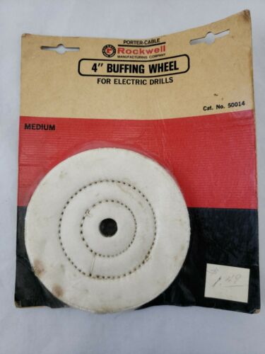 Vintage Porter Cable  Rockwell 4-Inch Polishing Buffing Whee