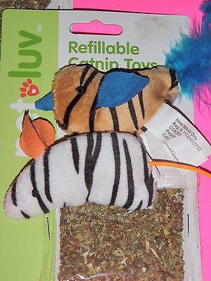 Catnip Cat Toy,Kitten,Mouse, Bird,Soft, Feathery,Refillable Activity*USA SELLER*