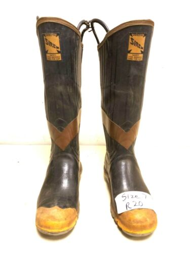 Uniroyal Siren Firefighter Turnout Gear Rubber Boots Steel Toe Size 7 R20