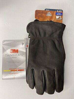 Wells Lamont Insulated Grain Cowhide Leather Work Gloves Size Large Nwt