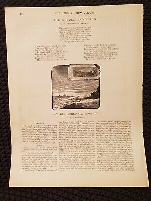 The Golden Long Ago - M. Hedderwick Browne - 1897 Book Print