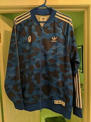 Blue Camo Bape A Bathing Ape Adidas Track Jacket Size Large