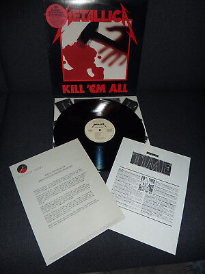Metallica    extrem rare  Kill `em all  USA  LP  white labels &  inserts   for sale  Shipping to South Africa