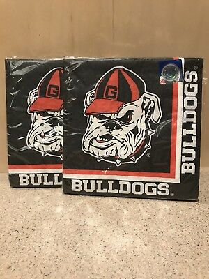 Georgia Bulldogs NCAA College University Sports Party Paper Luncheon 40 Napkins - Georgia Bulldog Party Supplies
