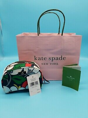 NWT KATE SPADE NEW YORK Dawn Breezy Floral Small Dome Cosmetic Bag Case