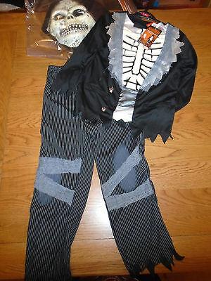 BNWT tuxedo skeleton zombie halloween fancy dress up. 7-8 years.Sainsbury (16) - Sainsbury Halloween Fancy Dress