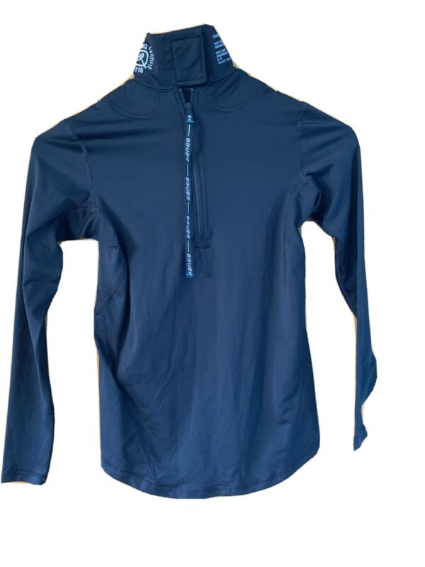 Youth Bauer Baselayer Shirt With Built In Neck Guard