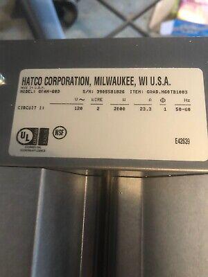Hatco 60 Aluminum Strip Heater 2800 Watts Food Warmer Wdouble Heat Element.