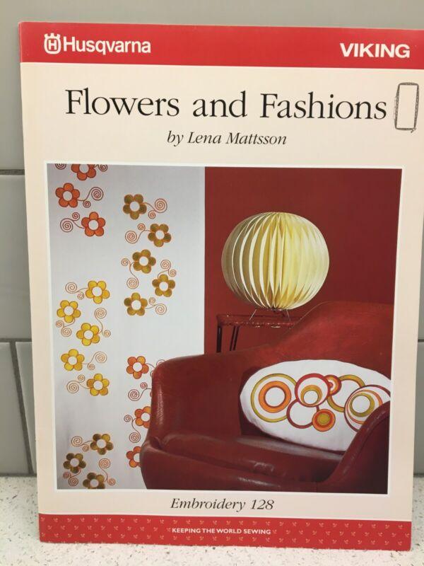 Husqvarna Viking Embroidery Pattern #128 - Flowers & Fashions - CD & Disc