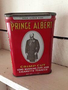 Prince Albert cigarette tobacco crimp cut rare tin