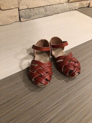 Used, Zara Toddler Girl Leathet Sandals Size 20 for sale  Berwyn